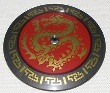 Lego New Pearl Dark Gray Dish 9 x 9 Inverted Radar Dish with Gold Dragon