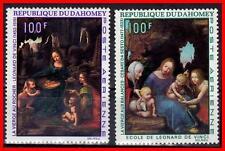 DAHOMEY 1969 RELIGIOUS PAINTINGS / LEONARDO  SC#C95-96 MNH MADONNA (E15-7)
