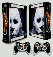 Xbox 360 Original Michael Myers Horreur Dark Autocollant Peau & 2 Pad Stickers