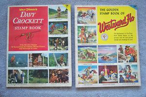 DAVY CROCKETT & WESTWARD HO GOLDEN STAMP BOOKS