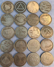 Lot of 30 Serenity Prayer Bronze Medallions AA Alcoholics Anonymous Chip Coins