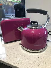 Hot Pink Kenwood Kettle And Toaster