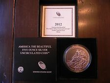 2012-P NQ2 ACADIA AMERICA THE BEAUTIFUL 5oz SILVER COIN