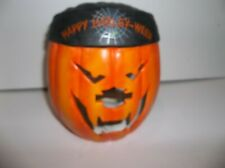 Harley-Davidson Ceramic Jack-O-Lantern Candle Holder, 2001 Collectible, Nib