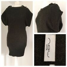 New Look Khaki Green Jumper Dress with Short Sleeves. Size 10