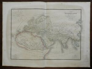 Ancient World North Africa Europe Middle East Asia 1842 Lapie large folio map