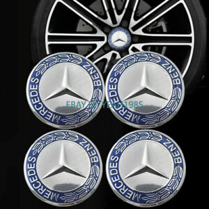 4pcs X 75mm Wheel Rim Center Caps Emblem Logo For Mercedes Benz logo Badge Hub