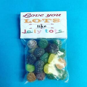 Love You Lots Like Jelly Tots Novelty Sweet Gift Thank You Appreciation