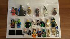 Lego 22+ minifigure: Batman, Robin, Jack Sparrow, Star Wars,Lord of Rings weapon