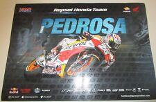 Dani Pedrosa (Spain) signed Repsol Honda 2017 Moto GP Poster + Photo proof & COA