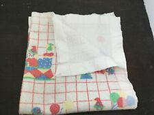 Cannon Mills Baby Blanket Acrylic Thermal Nylon Binding Clowns Balloons USA