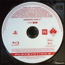promo ARMORED CORE 4 PlayStation 3 UK PAL English・♔・pre-release full game PS3