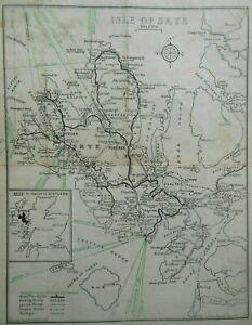 Vintage Isle of Skye Map on Atholl of Dunvegan Headed Paper (c1949) Scotland