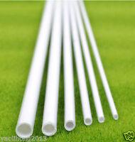 2 pcs ABS Styrene Plastic Round Tube Pipe Diameter 2 to 10mm *250mm White