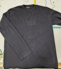 French Connection FCUK  Black Crew Neck Pull Over Jumper Sz L