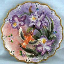 Function Art Hummingbird And Iris Ceramic Decorative Plate
