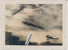 Foto Fliegerei Frankreich Zeppelin-Flugzeug-Doppedecker 1.WK (1990)