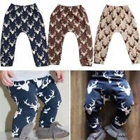 Cute Kids Baby Boys Girls Printed Elastic Harem Pants Toddler Trousers Clothes