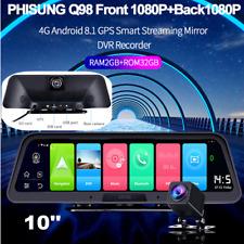 "Dual Lens 10"" HD 1080P Car DVR Dash Camera Video Recorder Cam 4G Wifi GPS 2+32G"