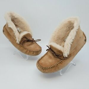 UGG Alena Foldable Collar Womens Moccasin Slippers Flat Shoes Size 8 1004806