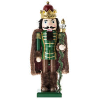 "Green King Wood Nutcracker Christmas  Décor  14 1/4"""" Kurt Adler Gift"