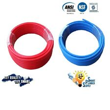 """2 ROLLS of 1/2"""" X 100' PEX TUBING RED+ BLUE FOR WATER SUPPLY w/25 YEARS WARRANTY"""