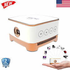 Portable Mini Projector WiFi Android 7.1 BT DLP LED 1080P Home Theater Cinema HD