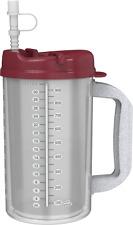 (2) 32 oz Hospital Mugs with Electron Burgundy Lids - Cold Drink Travel Mugs