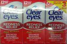 Clear Eyes Redness Relief Eye Drops - 0.5 oz. - 3 pk up to 12 hour relief