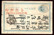 Japon - Entier postal circulé ( plis )