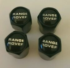 Range Rover Black Wheel Tyre Valve Dust Caps for Sport Vogue Evoque Classic 4x4