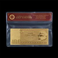WR Gold Banknote DDR Geldscheine 100 Mark 1985 Design In Farbe Sammlerstücke