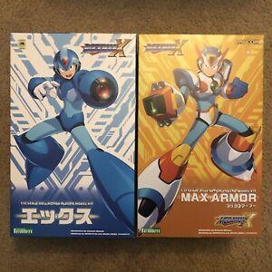 Kotobukiya Rockman X model kits: Mega Man X + Max Armor (New but MISSING PIECES)