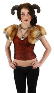 Satyr Horns Brown Lightweight Soft Foam Adjustable Fantasy Costume Prosthetic