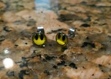 STAINLESS STEEL POST EARRINGS SMILEY FACE Studs 70s Retro Happy Emoticon