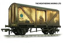 Boxed Hornby BR Blue Spot Insulated Fish Van wagon *PRO WEATHERED LOOK*