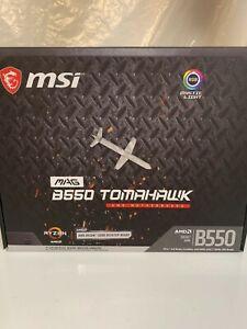 GAMING MSI B550 TOMAHAWK Socket AM4 USB-C Gen2 AMD ATX Motherboard new