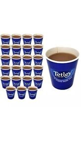 24 X TETLEY TEA TO GO DOUBLE WALLED TAKEAWAY CUPS INCLUDES TEA BAGS