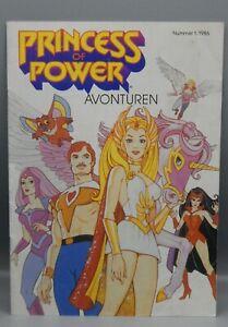 1986 Mattel Dutch SHE RA Princess of Power adventure magazine #1 Netherlands WOW