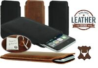 SLIM POCKET CASE COVER HANDMADE OF GENUINE LEATHER SLEEVE POUCH FOR MOBILE PHONE