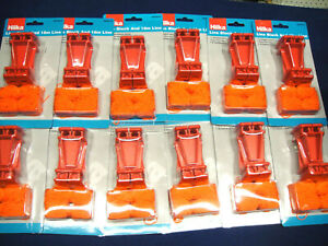 24 x Hilka RED Brickwork Building L Line Brick Blocks New Red Colour (12 pairs)