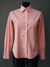 GANT Damen Bluse 36 , UK 10 kariert orange Hemd Shirt Baumwolle !6
