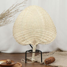 1Pc Hand-woven Mosquito Repellent Fan Summer Manual Straw Hand Fans Palm Leaf Hf