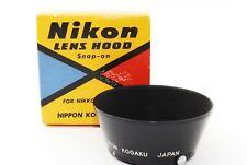 [ALMOST UNUSED in Box] Nikon Lens Hood For Nikkor 50mm f/1.4 S mount JAPAN #699