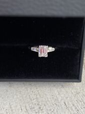 White Gold Emerald Cut Engagement Ring