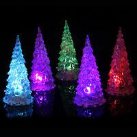 3pcs Colorful Acrylic Christmas Tree Lamp Color Changing LED Light Xmas Decor
