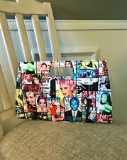 Vogue Magazine Covers Purse Clutch Handbag with Handle Vintage Boho Chic