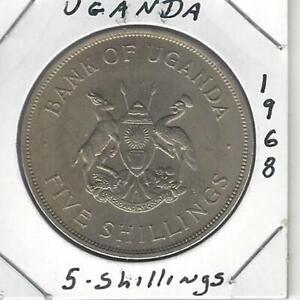 Uganda 5 Shillings 1968, F.A.O. series, Calf & Cow,  Crown Size, Uncirculated!