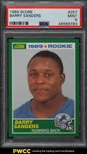 1989 Score Football Barry Sanders ROOKIE RC #257 PSA 9 MINT