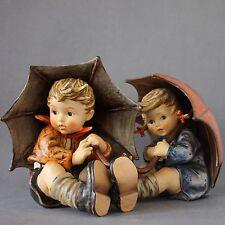 Goebel Hummel 152/II A Umbrella Boy TMK6 / 152/II B Umbrella Girl TMK5 EXCELLENT